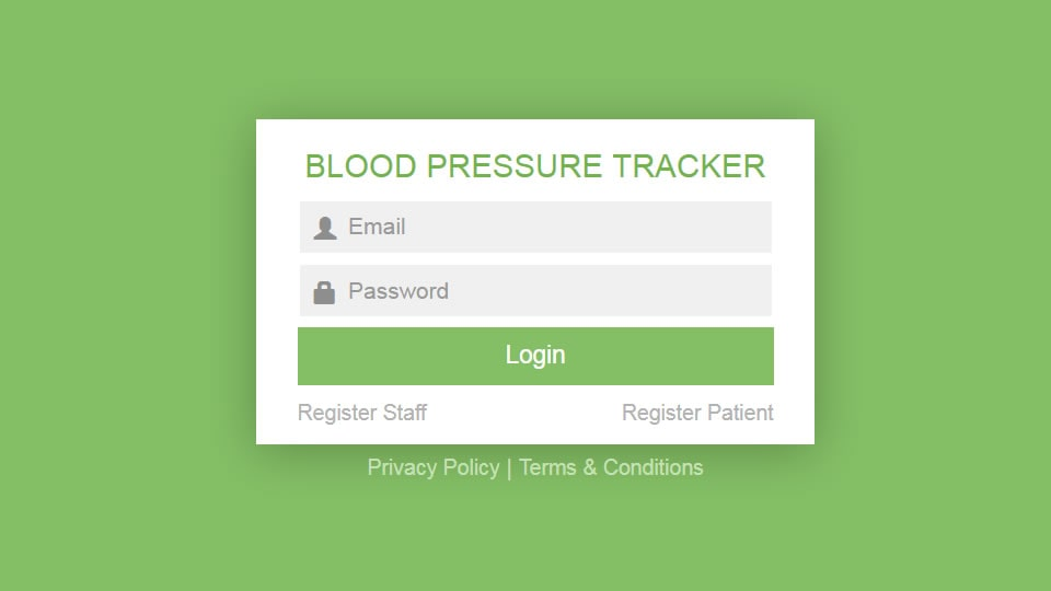 Blood Pressure tracker project thumbnail to demonstrate knowledge around development of system for different age groups